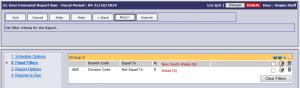 GL User Report Filter